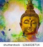 bodhisattva buddha watercolor... | Shutterstock . vector #1266028714