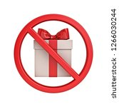no gift concept sign icon... | Shutterstock . vector #1266030244