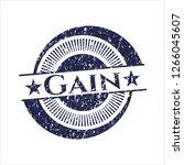 blue gain distress grunge style ... | Shutterstock .eps vector #1266045607