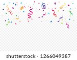 colorful confetti and ribbon... | Shutterstock .eps vector #1266049387