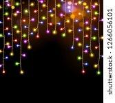 multicolor  christmas lights... | Shutterstock . vector #1266056101