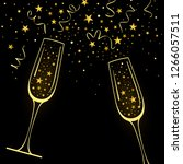 congratulatory background with... | Shutterstock . vector #1266057511