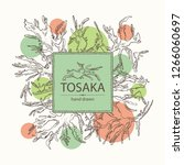 background with tosaka ... | Shutterstock .eps vector #1266060697