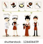 sushi bar | Shutterstock .eps vector #126606659
