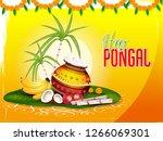 illustration of happy pongal... | Shutterstock .eps vector #1266069301