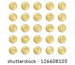set of golden badges with some... | Shutterstock .eps vector #126608105