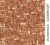 seamless brown background of...   Shutterstock .eps vector #1266081187