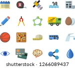 color flat icon set tape... | Shutterstock .eps vector #1266089437