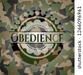 obedience camouflaged emblem | Shutterstock .eps vector #1266096961