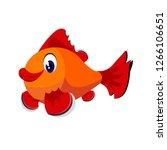 fish cartoon or fish clipart...   Shutterstock .eps vector #1266106651