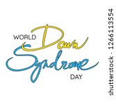 world down syndrome day  ... | Shutterstock .eps vector #1266113554