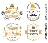 wish you a very happy birthday... | Shutterstock .eps vector #1266129871