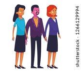 group of friends cartoon   Shutterstock .eps vector #1266129994