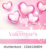 valentine's day design template ... | Shutterstock .eps vector #1266136804
