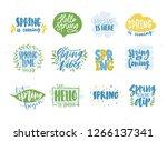bundle of spring or springtime... | Shutterstock .eps vector #1266137341