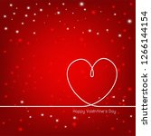 happy valentine s day with... | Shutterstock .eps vector #1266144154