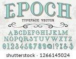 font script typeface vector... | Shutterstock .eps vector #1266145024
