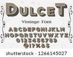 vintage 3d font handcrafted... | Shutterstock .eps vector #1266145027
