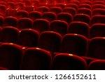 red velvet seats for spectators ... | Shutterstock . vector #1266152611