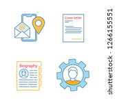 resume color icons set. contact ...   Shutterstock .eps vector #1266155551