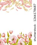 watercolor spring frames with... | Shutterstock . vector #1266178687