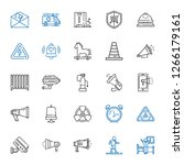 alert icons set. collection of... | Shutterstock .eps vector #1266179161