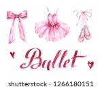 ballet dress and slippers.... | Shutterstock . vector #1266180151