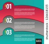 abstract modern banner vector... | Shutterstock .eps vector #126618155
