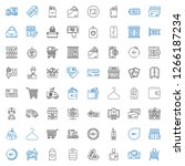 retail icons set. collection of ... | Shutterstock .eps vector #1266187234