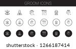 groom icons set. collection of... | Shutterstock .eps vector #1266187414