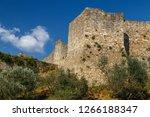 medieval fortification walls... | Shutterstock . vector #1266188347