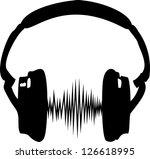 headphones   sound wave   city...   Shutterstock .eps vector #126618995
