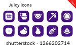 juicy icon set. 10 filled... | Shutterstock .eps vector #1266202714
