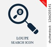 loupe search icon. loupe icon... | Shutterstock .eps vector #1266205141