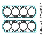 engine gaskets on a white...   Shutterstock .eps vector #1266206407