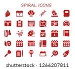 spiral icon set. 30 filled...   Shutterstock .eps vector #1266207811
