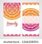 indian style vertical flyer set ...   Shutterstock .eps vector #1266208501