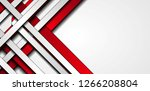 red and grey contrast stripes...   Shutterstock .eps vector #1266208804