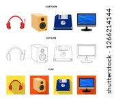 bitmap illustration of laptop... | Shutterstock . vector #1266214144