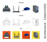 bitmap illustration of laptop... | Shutterstock . vector #1266214201