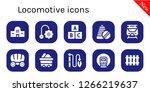 locomotive icon set. 10 filled ... | Shutterstock .eps vector #1266219637