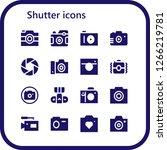 shutter icon set. 16 filled... | Shutterstock .eps vector #1266219781