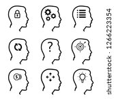 human head icons set. symbol of ... | Shutterstock .eps vector #1266223354