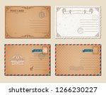 vintage postcards  postage...   Shutterstock .eps vector #1266230227