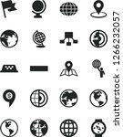 solid black vector icon set  ... | Shutterstock .eps vector #1266232057
