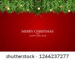 abstract holiday new year and... | Shutterstock . vector #1266237277