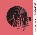 black vinyl record store day... | Shutterstock .eps vector #1266244987