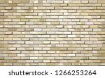 beige brick wall   illustration ... | Shutterstock .eps vector #1266253264