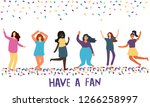 women celebrating. color vector ...   Shutterstock .eps vector #1266258997