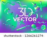 vector holographic background... | Shutterstock .eps vector #1266261274